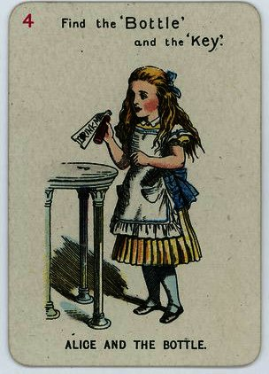 Alice and the Bottle by John Tenniel (1820-1914, United Kingdom)