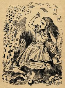 John Tenniel - Alice and the Pack of Cards