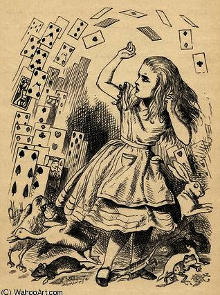 Alice and the Pack of Cards by John Tenniel (1820-1914, United Kingdom)