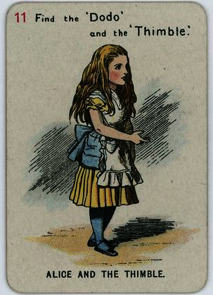Alice and the Thimble by John Tenniel (1820-1914, United Kingdom)