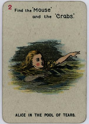 Alice in the Pool of Tears by John Tenniel (1820-1914, United Kingdom)