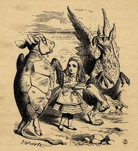 John Tenniel - Alice with the Gryphon and the Mock Turtle