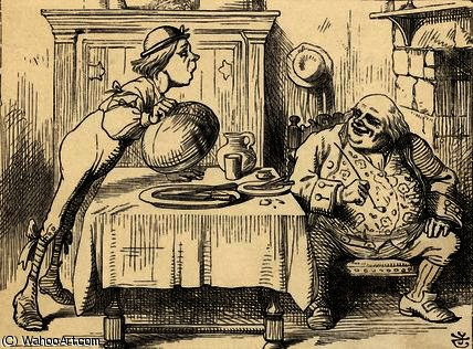Father William having eaten the Goose by John Tenniel (1820-1914, United Kingdom)
