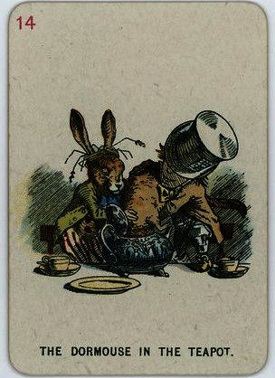 The Dormouse in the Teapot by John Tenniel (1820-1914, United Kingdom)
