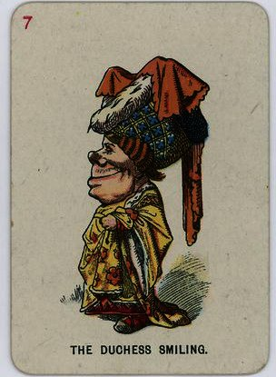 The duchess smiling by John Tenniel (1820-1914, United Kingdom)