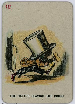 The Hatter leaving the Court by John Tenniel (1820-1914, United Kingdom)