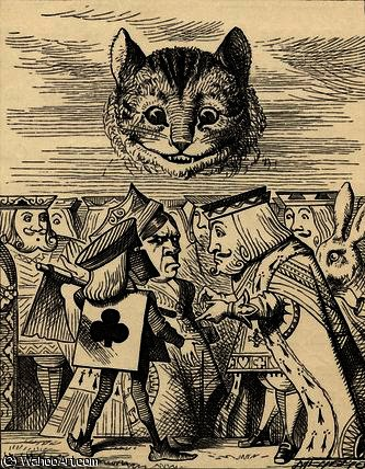 The King of Hearts arguing with the Executioner by John Tenniel (1820-1914, United Kingdom) | Oil Painting | WahooArt.com