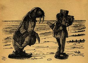 Order Famous Paintings Reproductions : The Walrus and the Carpenter by John Tenniel (1820-1914, United Kingdom) | WahooArt.com