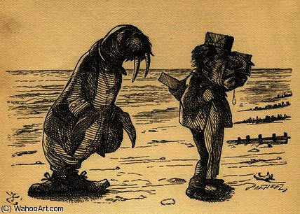 The Walrus and the Carpenter by John Tenniel (1820-1914, United Kingdom)