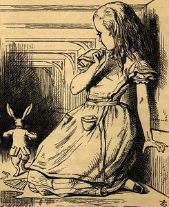 John Tenniel - The White Rabbit is late