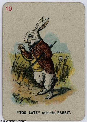 Too Late, said the Rabbit by John Tenniel (1820-1914, United Kingdom) | Oil Painting | WahooArt.com