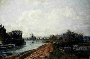 John William Buxton Knight - Canal, rickmansworth
