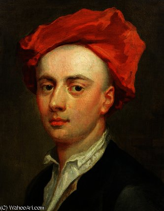 Portrait of John Gay , author of The Beggar`s Opera by Jonathan Richardson The Elder (1667-1745) | Museum Quality Reproductions | WahooArt.com