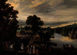Village fete by Joos De Momper The Younger  (order Fine Art fine art print Joos De Momper The Younger)
