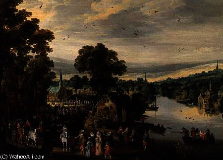 Village fete by Joos De Momper The Younger (1564-1635) | Oil Painting | WahooArt.com
