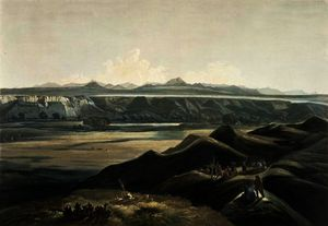 Karl Bodmer - View of the Rocky Mountains