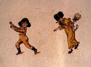 Kate Greenaway - Playing baby