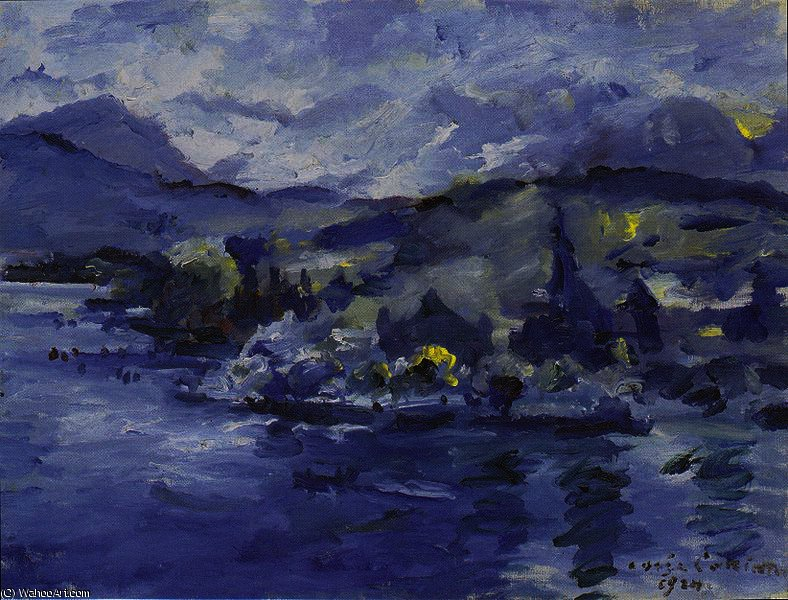 Lake Lucerne in the afternoon by Lovis Corinth (Franz Heinrich Louis) (1858-1925, Netherlands)