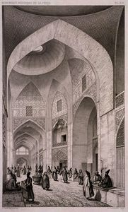 Pascal Xavier Coste - Cloth Market, in Isfahan