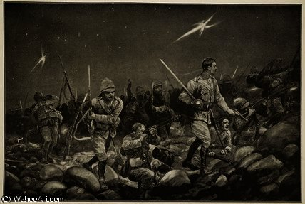 Night sortie from mafeking by Richard Caton De Woodville (1856-1927, United States)