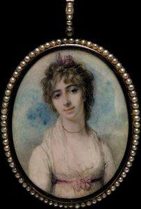 Richard Cosway - PD.200-1961 Portrait miniature of Mrs Arbuthnot