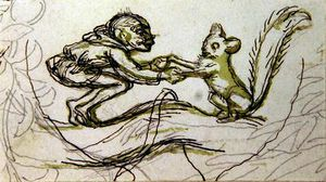 Richard Dickie Doyle - Goblin and Squirrel