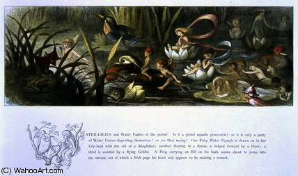 Water-Lilies and Water Fairies by Richard Dickie Doyle (1824-1883, United Kingdom) | WahooArt.com