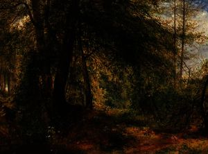 Richard Redgrave - The woodland mirror