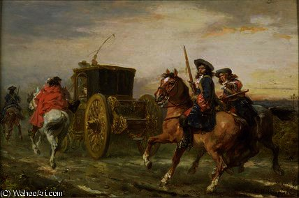Order Paintings Reproductions | The escort by Robert Alexander Hillingford (1828-1904, United Kingdom) | WahooArt.com