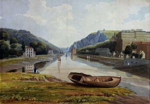 Samuel Jackson - View down the Avon with Hotwells and Clifton