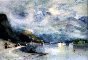 Alfred Edward East - Lake Maggiore from Stresa