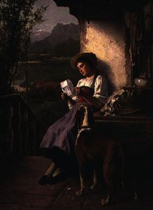 Theodore Gerard - Girl Reading a Letter