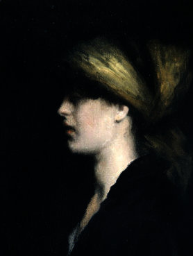 Chiaroscuro, a Profile by Théodore Casimir Roussel (1847-1926, France) | Oil Painting | WahooArt.com