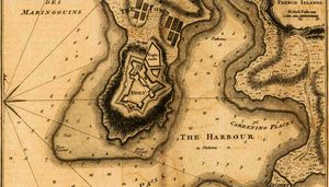 Thomas Jefferys - Plan of the Town and Fort of Grenada