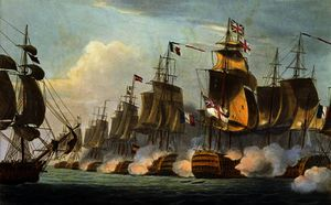 Thomas Whitcombe - Battle of Trafalgar, October 21st