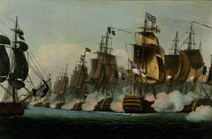 Thomas Whitcombe - The Battle of Trafalgar, 21st October