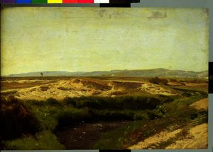 Order Painting Copy : On the Luneburg Heath by Valentin Ruths (1825-1905, Germany) | WahooArt.com