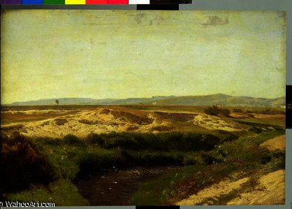 On the Luneburg Heath by Valentin Ruths (1825-1905, Germany) | Painting Copy | WahooArt.com