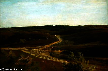 The Moorland near Ehestorf by Valentin Ruths (1825-1905, Germany) | WahooArt.com