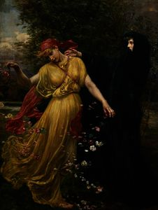 Valentine Cameron Prinsep - At The First Touch of Winter