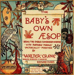 Walter Crane - Title page from -Baby-s Own Aesop-