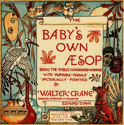 Buy Museum Art Reproductions | Title page from `Baby`s Own Aesop` by Walter Crane (1845-1915, United Kingdom) | WahooArt.com