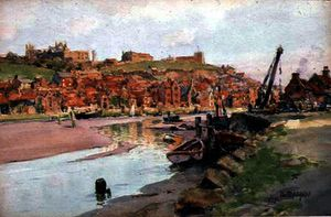 Wilfrid Williams Ball - Rosy evening, whitby