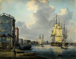 William Anderson - The Thames at Rotherhithe,