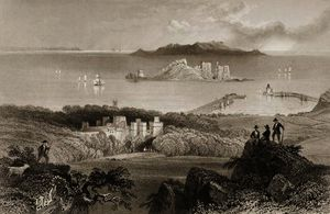 William Henry Bartlett - View of Howth Castle