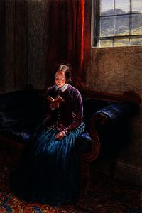 William Henry Hunt - A Lady Reading, called Mrs William Hunt, c.1835