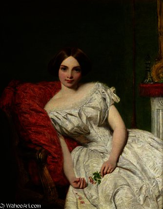 Portrait of Annie Gambart by William Powell Frith (1819-1909, United Kingdom)