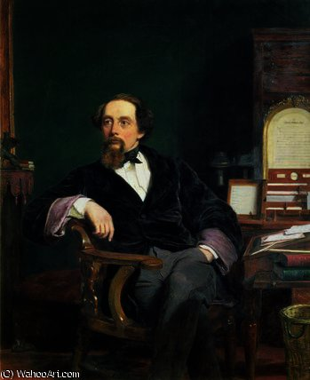 Portrait of Charles Dickens by William Powell Frith (1819-1909, United Kingdom)
