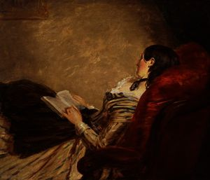 William Powell Frith - Sketch of the Artist-s Wife Asleep in a Chair