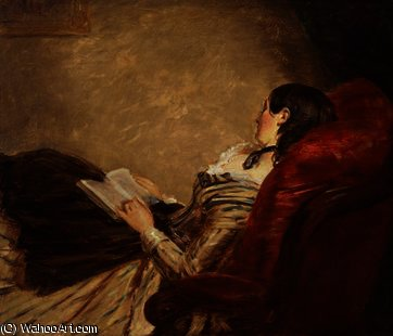 Sketch of the Artist`s Wife Asleep in a Chair by William Powell Frith (1819-1909, United Kingdom) | Reproductions William Powell Frith | WahooArt.com